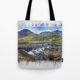 Snowdonia Tryfan Painting Tote Bag