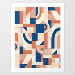 Bold Blocks #society6 #pattern Art Print
