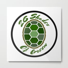 26ShadesofGreen Logo Metal Print