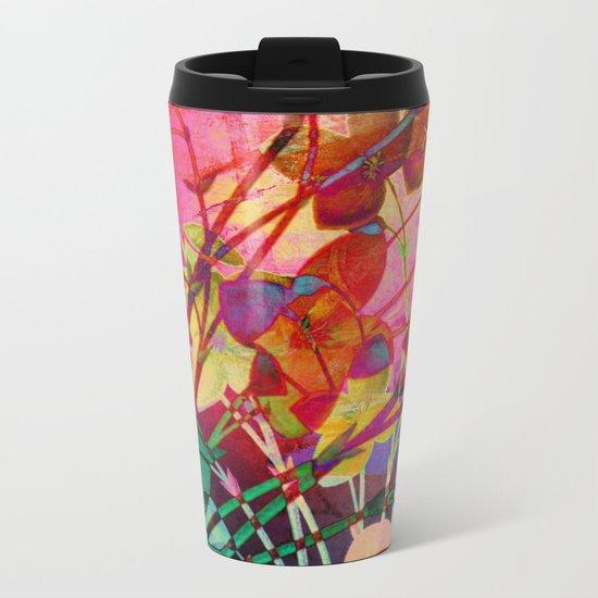 wild floral Metal Travel Mug