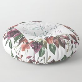 The Hate U Give Angie Thomas Quote Floor Pillow