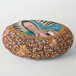 Our Lady of Guadalupe Floor Pillow
