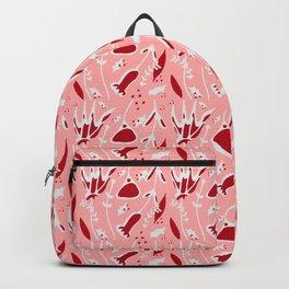 winter floral pink Backpack