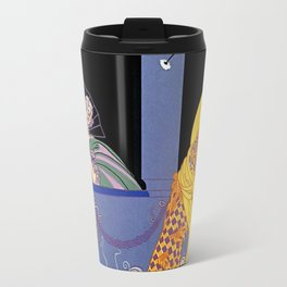 "Art Deco Design ""Harlequin"" by Erté Travel Mug"