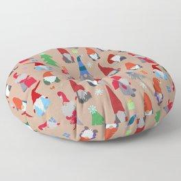 Gnomes everywhere Floor Pillow