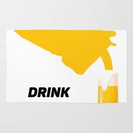 Georgia Drinking Team Beer Lovers Drink Local Rug