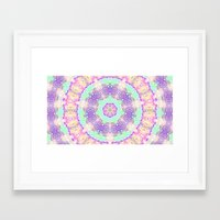 tree rings Framed Art Prints featuring Tree Rings by Cosmic Lotus Tribe