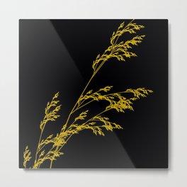Nature,Minimal,yellow Metal Print