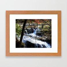 ˈwôtərˌfôl Framed Art Print
