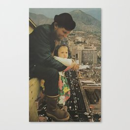 A Father, Daughter Moment Canvas Print