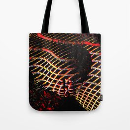 5502s-MAK Space Time Vulva Abstract Art Rendered in Acrylic by Chris Maher Tote Bag