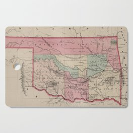 Vintage Map of Oklahoma (1869) Cutting Board