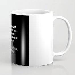 Stoic Wisdom Quotes - Marcus Aurelius Meditations -  on anger Coffee Mug