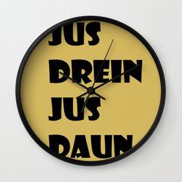 Jus Drein Jus Daun (gold) Wall Clock