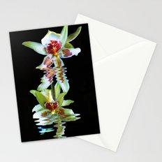 Green flowered Cymbidium Stationery Cards