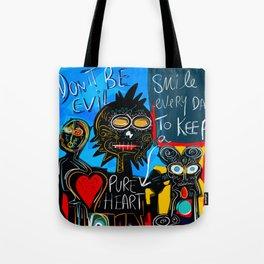 Don't be Evil Street Art Graffiti Tote Bag