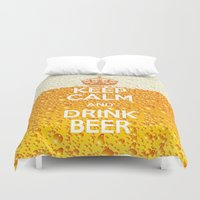 beer Duvet Covers featuring Beer by Text Guy