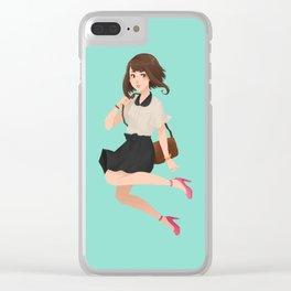 G R A V I T Y  G I R L Clear iPhone Case