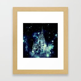 Celestial Palace Teal Turquoise Blue Framed Art Print