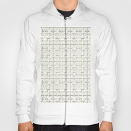 Ivory White Square Chain Pattern Design Hoody
