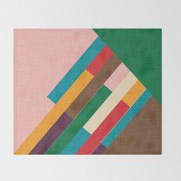 meridian pink Throw Blanket