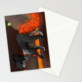 Neal in the lava tunnels Stationery Cards