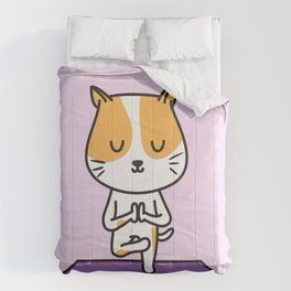 Yoga Cat Comforters
