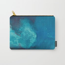 WaterColor Turqouise Blue Print Carry-All Pouch