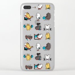 Leg Day with Persian Cat Clear iPhone Case
