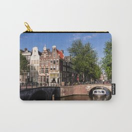 Amsterdam old town with typical canal Carry-All Pouch