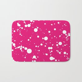 310001 Hot Pink and White Painting Bath Mat