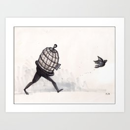 """""""I know why the caged bird...""""  Art Print"""