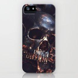 Black Gold Skull iPhone Case