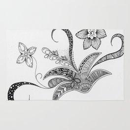 Floral Zentangle Rug