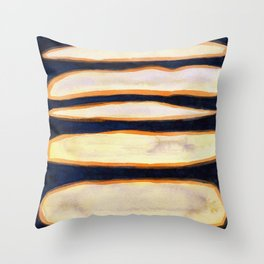 Green Cloud over Floating Shapes Throw Pillow
