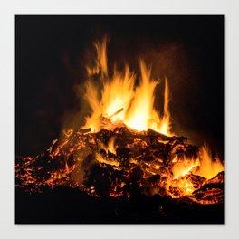 Fire flames Canvas Print