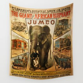 Vintage poster - Jumbo Wall Tapestry