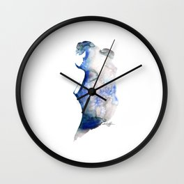 Watercolor Nude 6 by Kathy Morton Stanion Wall Clock