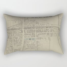 Vintage Map of Newark NY (1874) Rectangular Pillow