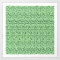 Slime Time Pattern - Green Art Print