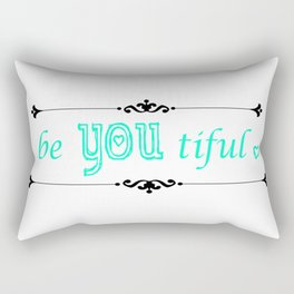 beYOUtiful Rectangular Pillow