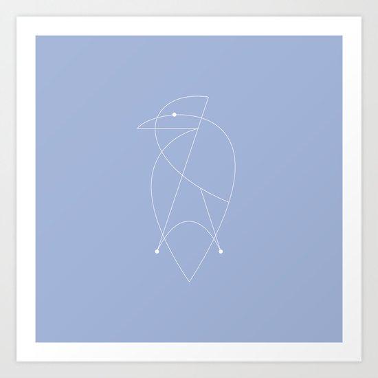 Contours: Jay (Line) Art Print