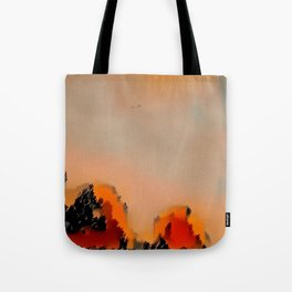 Sunrise in Halle with Tiny Plane Tote Bag