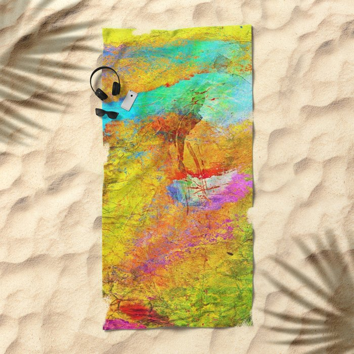 Abstract Texture 04 Beach Towel