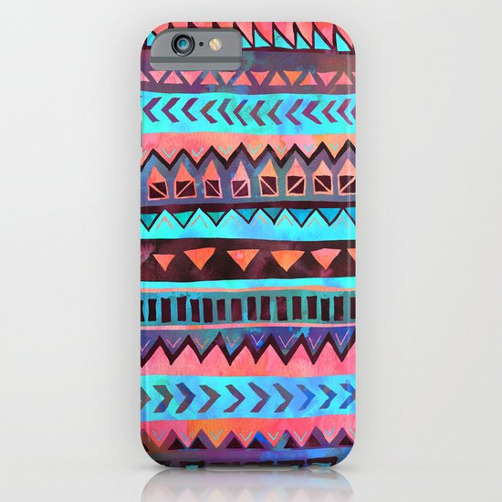 PATTERN {Tribal Stripe- Aqua} iPhone & iPod Case