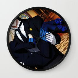 Black Butler Wall Clock