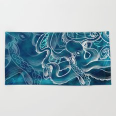 octopus-water Beach Towel
