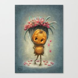 Flowers - A little shy (Forever Halloween Collection) Canvas Print