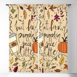But First, Pumpkin Spice Latte Blackout Curtain