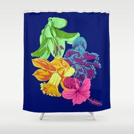 Octopus Flower Garden Shower Curtain